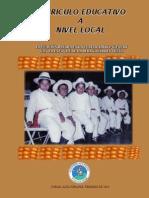 Curriculo Educativo a Nivel Local - Experiencia Xch'ool Ixim