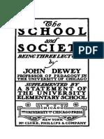 a Escola e a Sociedade e a Criança e o Currículo - John