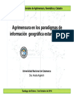 Agrimensura en Los Paradigmas de Información Geográfica Estandarizada