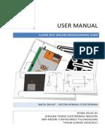 User Manual Alarm Laser Anti Maling Irfan