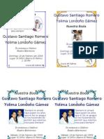 Tarjetas Matrimonio Enero 2009 Yolima y Gustavo