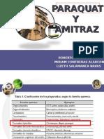 Intoxicación por Paraquat y Amitrax