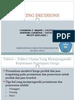 Presentasi Stratview Pricing Decision
