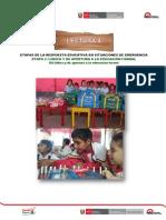 ETAPAS DE LA RESPUESTA EDUCATIVA EN SITUACIONES DE EMERGENCIA ETAPA 2