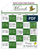 March Activity Calendar 2010