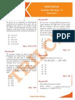 Respuestas Uni2015II Matematica