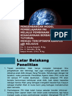 Pengembangan Model Pembelajaran Pai Berbasis Tutorial