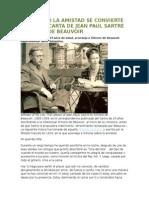 Carta de Sartre a Beauvoir