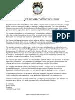 Severance Negotiations Conclusion