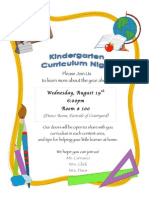 curriculum night invitation 2015