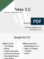 D.C. meetup presentation on WordPress 3.0