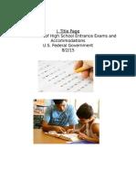 Proposal on U.S. Education