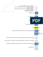 IRC 112 Creep & Shrinkage Manual Calculation vs Midas-Civil Values