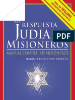 La Respuesta Judia a Los Misioneros Cristianos