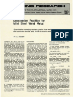 Deoxidation Practice for Mild Steel Weld Metal