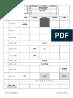 Montilla Schedule