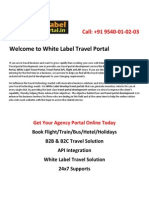 White Label Travel Portal Development