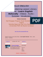 Ello English --English Listening Lesson Library Online - Learn English Naturally - Videos