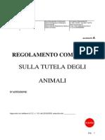 Regolamento per la tutela animali d'affezione