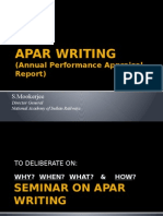 APAR WRITING BY S MOOKERJEE DG-NAIR