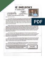Snelson Prayer Letter