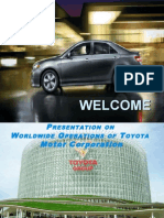Worldwide Operations of Toyota