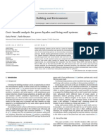 Cost Benefit Analysis for Green Facades and Lws 1
