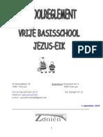 SCHOOLREGLEMENT Vrije Basisschool Jezus Eik 2015
