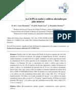 Acumulación de as, CD, Pb en Suelos y Cultivos Afectados Por Jales Mineros