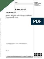 BS EN 12390.2 - 2000 [Testing Hardened Concrete - Making & Curing Specimens for Strength Tests]
