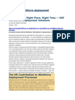 SAP HCM Workforce Deployment