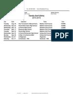 schedule 2015-2016