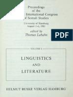 ANDRZEJEWSKI B.W. Somali Prose Fiction Writing 1967 - 81
