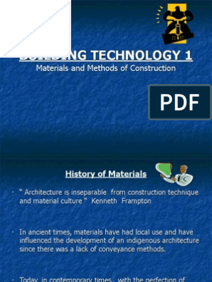 Building Technology Materials PDF | Deformation (Engineering
