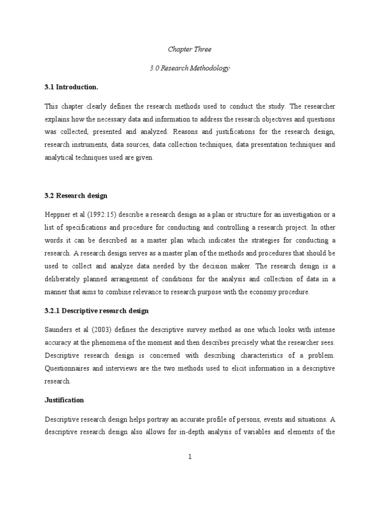 Chapter Three 3.0 Research Methodology 3.1 Introduction.   Sampling ...