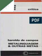 46771214 CAMPOS Haroldo Metalinguagem e Outras Metas
