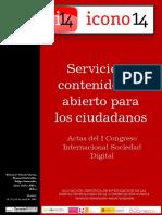 Actas I Congreso Internacional Sociedad Digital