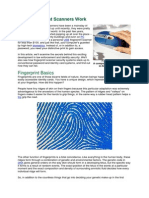 How Fingerprint Scanners Wo