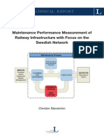 MPM of Railway Infrastructure