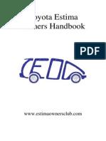 Estima Owners Handbook