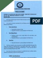 Dpp's Press Release on Pastor Nganga Traffic Case