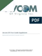 Avcom GUI User Guide - Supplement for GUI v4.0
