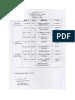 Jadual Waktu UPPM 1 & Setara 1