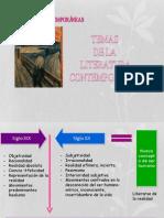 Temas y rasgos propios de la literatura contemporanea-.ppt