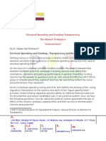 Electoral Spending and Funding