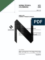 Requisitos de Los Ensayos en Las Cuerdas_Norma Tecnica NTC 2092 de 1995