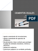 Cementos Duales Operatoria Dental