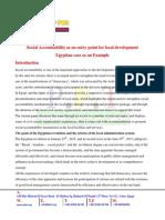 Social Accountability as an entry point for local development