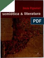 PIGNATARI,Decio Semiotica e Literatura