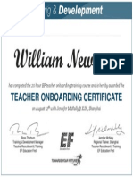 william newman onboarding certificate aug 12 2015